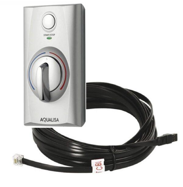 Aqualisa-Quartz-Digital-10-metre-cable and Zuri